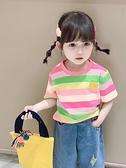 2021夏裝新款童裝女童小童寶寶兒童純棉T恤半袖上衣洋氣短袖體恤