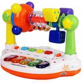 兒童玩具0-1-3歲益智男孩女孩玩具5搖鈴嬰兒寶寶音樂早教幼兒4-6-8-12個月七夕情人節