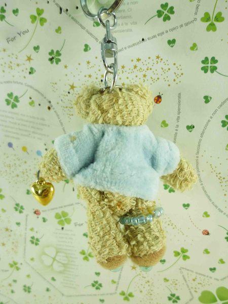 【震撼精品百貨】泰迪熊_Teddy Bear~絨毛鎖圈-藍衣服