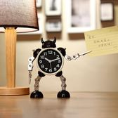 變形機器人鬧鐘創意學生金屬鬧表『米菲良品』