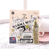 【Suatelier travel sticker pack】Norns 韓國進口行李箱貼紙 設計文具 防水貼紙 筆電貼紙  旅行景點貼紙