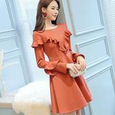 長袖洋裝 女裝長袖春夏女裝新款時尚大碼休閒修身連身裙·皇者榮耀3C旗艦店