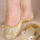 金色條紋舞鞋.肚皮舞軟底全腳掌防護耐磨護...