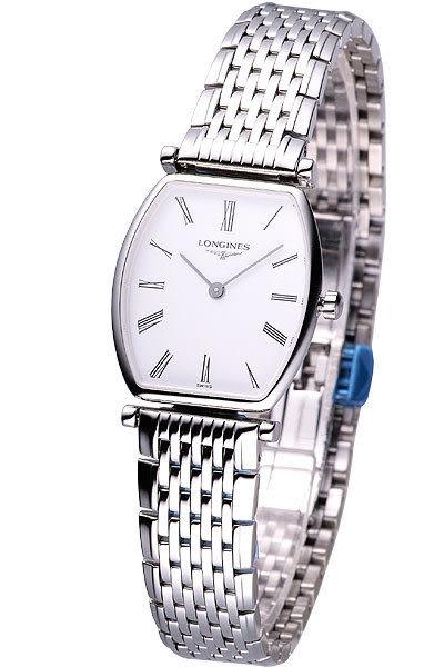 LONGINES 嘉嵐 系列 絕美酒桶型超薄腕錶 L42054116 白羅面