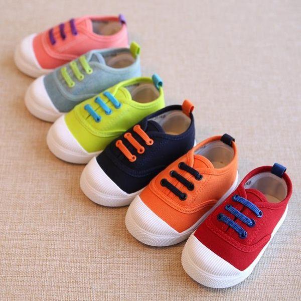 兒童鞋女春秋男童女寶寶球鞋板鞋小童單鞋鞋子歲2懶人一腳蹬 寶媽優品