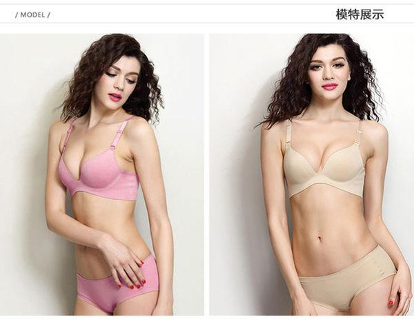 一片式无痕性感聚拢调整型小胸罩有钢圈上薄下厚胸罩-12360001024