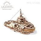 免運x現貨⎪UGEARS 木製自走模型 - 西奥多拖船 Tugboat 烏克蘭 機械驚奇 科學 益智玩具