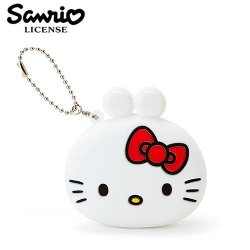 【日本正版】凱蒂貓 矽膠 零錢包 吊飾 小物收納 Hello Kitty 三麗鷗 Sanrio - 617557
