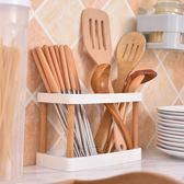 多功能瀝水塑料筷子筒日式家用筷子籠創意廚房筷子架餐具筒快簍 满398元85折限時爆殺