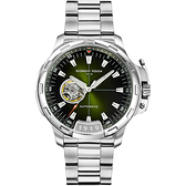 GIORGIO FEDON 1919 TIMELESS IX 鏤空機械錶-綠x銀/42mm GFCK006