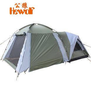 戶外帳篷多人雙層一室一廳露營野外