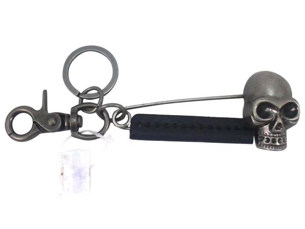 【卡漫城】 骷髏頭 別針 鑰匙圈 古銅 黑色 皮革 吊飾 掛飾 骨頭造型 骷魯頭 skull 大別針 金屬