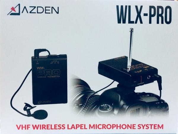 日本 Azden WLX-PRO plus VHF 無線電領夾式麥克風套組 採訪/攝影/直播【公司貨】WLX-PRO+