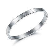 【5折超值價】316L西德鈦鋼情人節禮物最新款時尚精美簡約個性鑲鑽女款鈦鋼手環