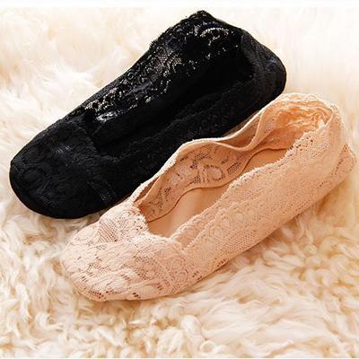 TwinS出口韓國專櫃精品【夏季淺口蕾絲船襪隱形襪】網紗蕾絲淺口襪