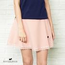 下擺拼接蕾絲搭配小鑽狗裝飾短裙【AF2155】