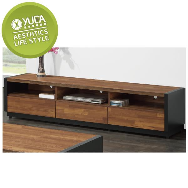 【YUDA】柏格 6尺 集層木 雙色 木心板 電視櫃/長櫃 J8F 220-2