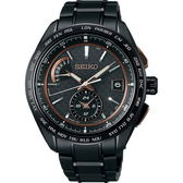 【台南 時代鐘錶 SEIKO】精工 BRIGHTZ 太陽能電波鈦金屬錶款 SAGA263J@8B63-0AN0SD 黑鋼 43mm