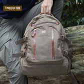 【TROOP】經典品格CLASSIC雙肩包/TRP0257BN(棕色)