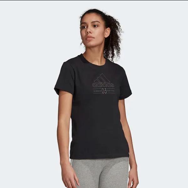ADIDAS 短袖 T恤 W BB T 圓領短袖 黑 女(布魯克林) GD3818