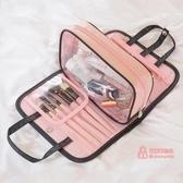 化妝包 2019新款ins化妝品包大容量小號收納袋盒便攜隨身手提少女心 3色
