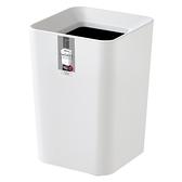 日本ASVEL方形雙層垃圾桶2L-白