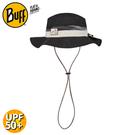 【BUFF 西班牙 可收納圓盤帽《極簡黑墨》】122594/休閒帽/遮陽帽/防曬帽
