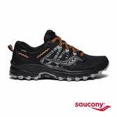 SAUCONY EXCURSION TR12 GTX 戶外越野女鞋-黑x橘紅