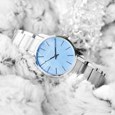 CK / K2G2314X / 都會女伶不鏽鋼腕錶 水藍色 31mm