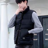 馬甲男秋冬季韓版潮流帥氣情侶款棉衣坎肩寬鬆大碼羽絨棉馬夾外套『摩登大道』