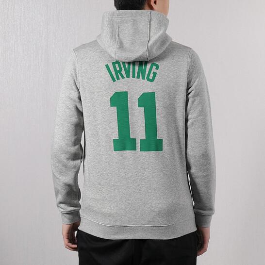NIKE NBA 男裝 長袖 連帽 休閒  塞爾提克 Kyrie Irving 灰 【運動世界】 929265-063