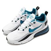 Nike 休閒鞋 Air Max 270 React 白 藍 男鞋 氣墊 增高 運動鞋 【ACS】 CT1280-101