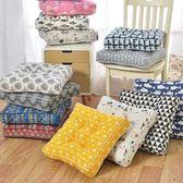 坐墊椅墊椅子棉麻增高學生加厚墊子蒲團軟墊