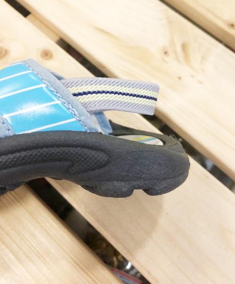 【震撼精品百貨】Shin Kan Sen 新幹線~台灣製正版兒童拖鞋-水藍線條(13~18號)#16860