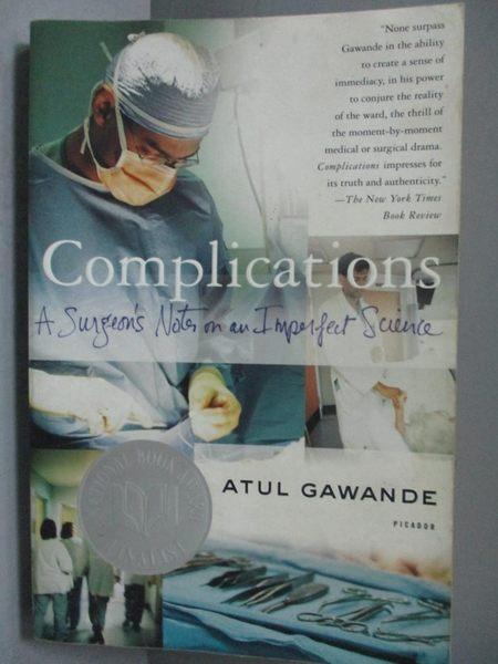 【書寶二手書T9/大學理工醫_OQB】Complications: A Surgeon's Notes on an Im