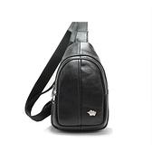 【南紡購物中心】DRAKA達卡 - 路易XIV系列- 牛皮單肩斜背胸包-暗黑
