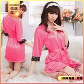 商品 角色扮演 日式和服 Cosplay 經典の浪漫!柔緞蕾絲和服睡袍