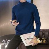 高領毛衣高領毛衣男韓版修身冬季加厚學生線衣潮流個性刷毛保暖針織打底衫 雙12購物節