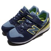 New Balance 慢跑鞋 996 NB 藍 黃 麂皮 魔鬼氈 中童鞋 女鞋【PUMP306】 KV996LVYW