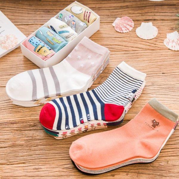 襪子女棉襪秋冬季棉襪女士中筒襪全棉韓日系襪子個性女襪
