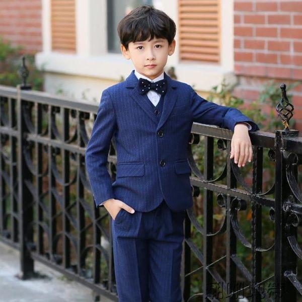 花童禮服童裝小西服寶寶男童鋼琴表演服 兒童禮服西裝套裝男英倫【潮咖地帶】