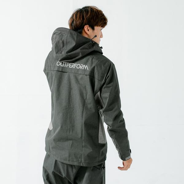 君邁雨衣,Aero9項專利透氣兩件式風雨衣,黑