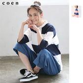 橫條紋上衣 寬版微高領T恤 USA美國棉 現貨 免運費 日本品牌【coen】