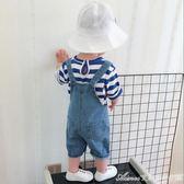 男童女童夏裝 韓版小童寶寶牛仔背帶褲中褲 1-2歲3歲小孩短褲艾美時尚衣櫥