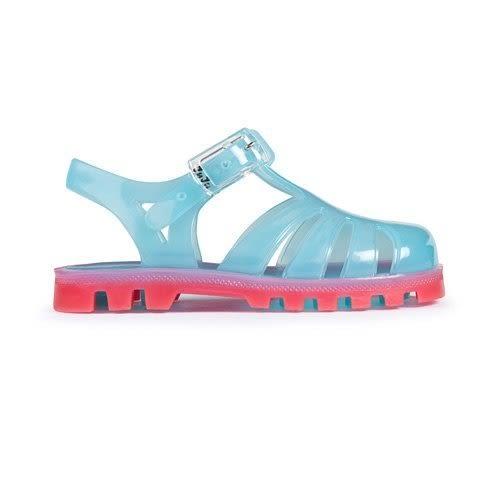 英國 Project Jelly JUJU果凍涼鞋/兒童涼鞋-粉藍x粉紅 (13-21cm)