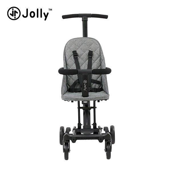 英國 JOLLY 輕便摺疊手推車-灰色 (遛娃神器)