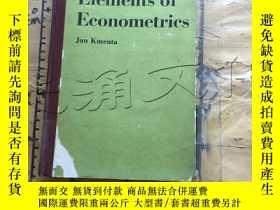 二手書博民逛書店Elements罕見of EconometricsY11418