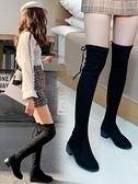 長靴 過膝長靴女鞋2020秋冬季新款馬丁瘦瘦中筒高筒加絨雪地騎士長筒靴 風馳