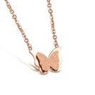 【5折超值價】 【316L西德鈦鋼】最新款時尚精美雙層蝴蝶造型女款鈦鋼項鍊