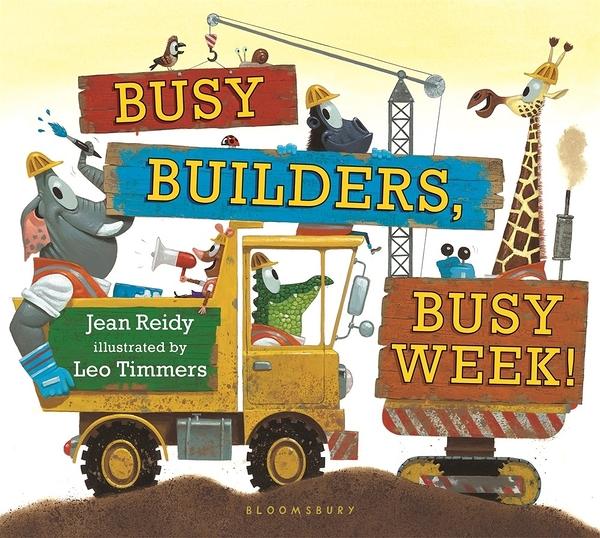 【工程車的故事】BUSY BUILDERS BUSY WEEK/硬頁書《主題:工程車.星期》
